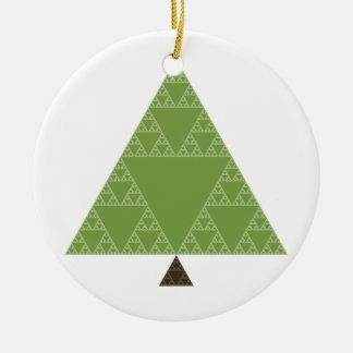Árbol del triángulo de Sierpinski Adorno De Navidad