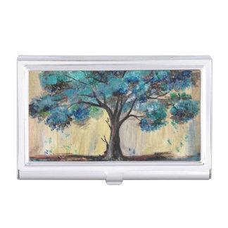 Árbol del trullo caja de tarjetas de negocios