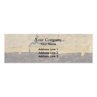 Árbol desnudo de Egon Schiele- detrás de una cerca Tarjetas De Visita Mini