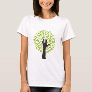 Árbol el alfabeto camiseta