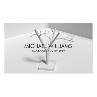 Árbol Elegante profesional Moderno gris blanco Tarjetas De Visita