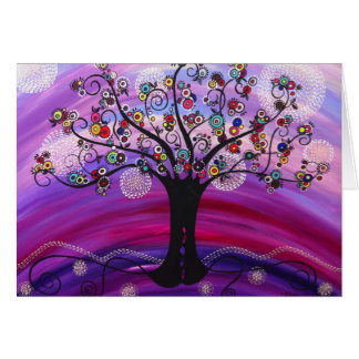 """""""Árbol en"""" la tarjeta de nota violeta por Catherin"""
