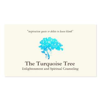 Árbol espiritual 2 de la turquesa del consejero tarjetas de visita