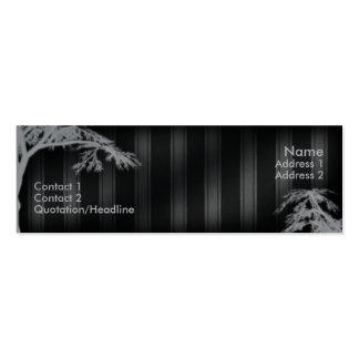 Árbol fantasma negro tarjeta personal