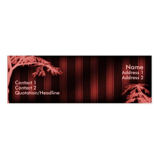 Árbol fantasma rojo plantilla de tarjeta de visita