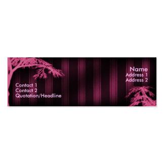 Árbol fantasma rosado tarjetas de visita