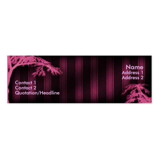 Árbol fantasma rosado plantillas de tarjetas personales