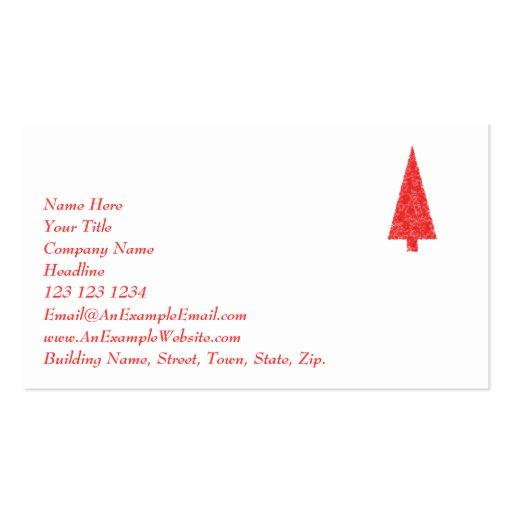 Árbol festivo rojo. Rojo y blanco. La Navidad Plantillas De Tarjeta De Negocio