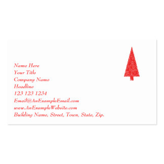 Árbol festivo rojo. Rojo y blanco. La Navidad Tarjetas De Visita