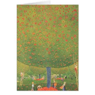 Árbol frutal tarjeta de felicitación