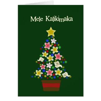 Árbol hawaiano tarjeta de felicitación