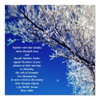 Árbol helado con las invitaciones del boda de la invitación 13,3 cm x 13,3cm