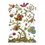 Árbol jacobeo del bordado de la lana para bordar d tarjetas postales