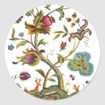 Árbol jacobeo del bordado de la lana para bordar pegatinas redondas
