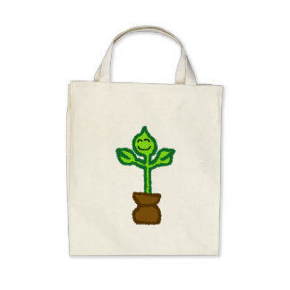 Árbol joven sonriente bolsas