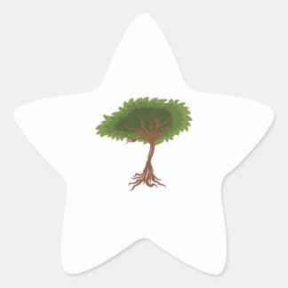 árbol calcomanías forma de estrellaes
