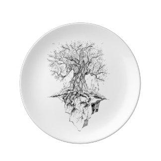 Árbol Plato De Porcelana