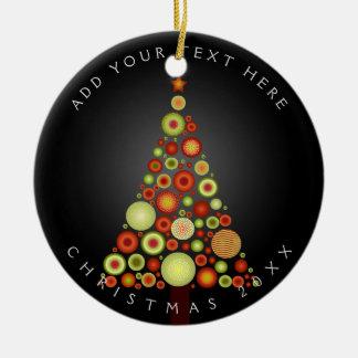 Árbol retro de los ornamentos del navidad de