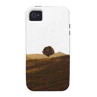 Árbol solo iPhone 4 funda