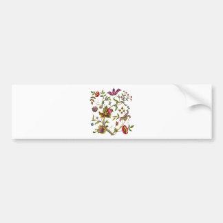 Árbol tradicional del modelo del bordado de la vid etiqueta de parachoque