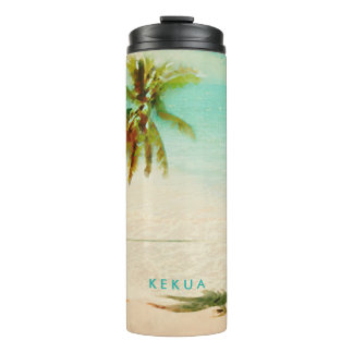Árbol tropical de la playa/de coco de termo