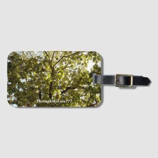 Árbol verde de la naturaleza en etiqueta del