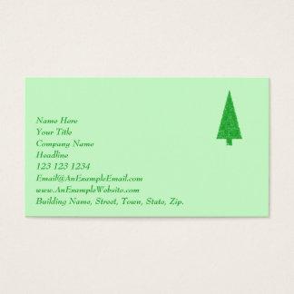 Árbol verde. Navidad, abeto, árbol imperecedero Tarjeta De Negocios