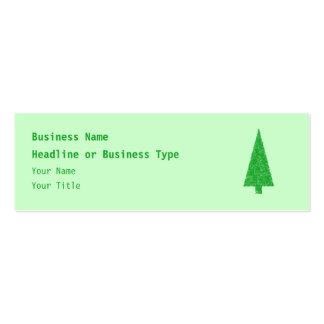 Árbol verde. Navidad, abeto, árbol imperecedero Tarjetas De Visita Mini