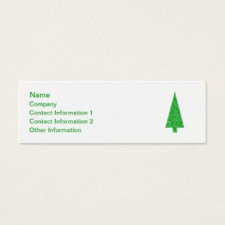 Árbol verde. Navidad, abeto, árbol imperecedero Tarjeta De Visita Pequeña