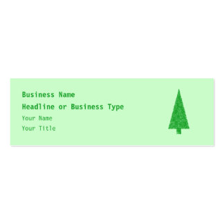 Árbol verde Navidad abeto árbol imperecedero Tarjeta De Visita