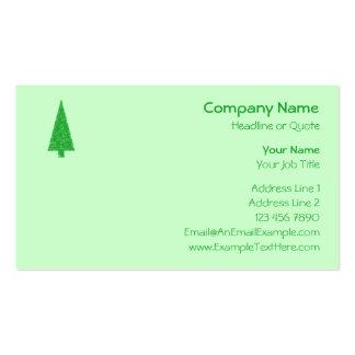 Árbol verde. Navidad, abeto, árbol imperecedero Plantilla De Tarjeta De Visita