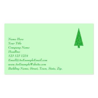 Árbol verde. Navidad, abeto, árbol imperecedero Tarjeta De Visita