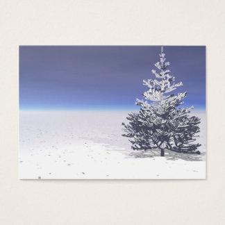 árbol y blanco como la nieve tarjeta de negocios