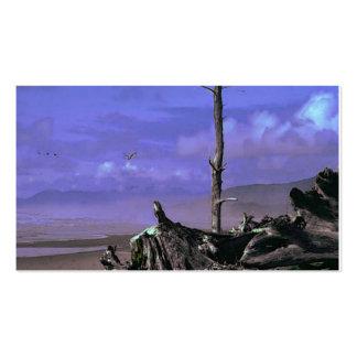 Árbol y Driftwood desnudos en una línea de la play Tarjeta De Visita