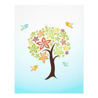 Árbol y pájaros flyer