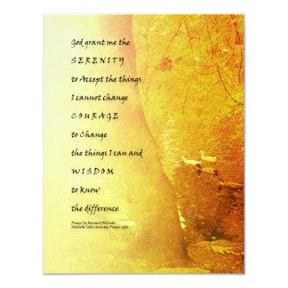 Árbol y patos del rezo de la serenidad invitación 10,8 x 13,9 cm