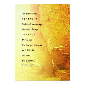 Árbol y patos del rezo de la serenidad invitación 12,7 x 17,8 cm