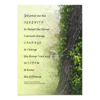 Árbol y reguera del rezo de la serenidad invitación 12,7 x 17,8 cm