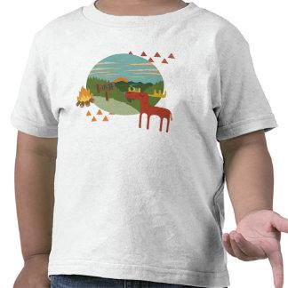 ¡Arbolado - alce! Camiseta