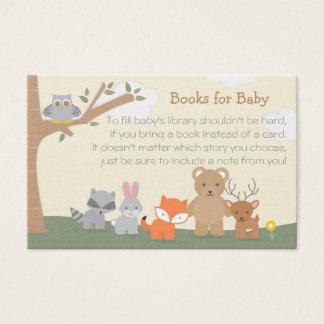 """Arbolado """"libros para el bebé """" tarjeta de visita"""