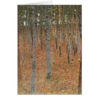 Arboleda I de la haya de Gustavo Klimt- Tarjeta