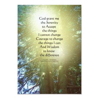 Árboles altos dos del rezo de la serenidad invitación 12,7 x 17,8 cm