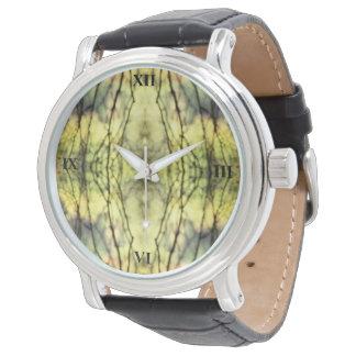 Árboles amarillos abstractos reloj de pulsera