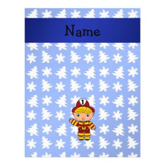 Árboles azules personalizados de los copos de niev tarjetas publicitarias