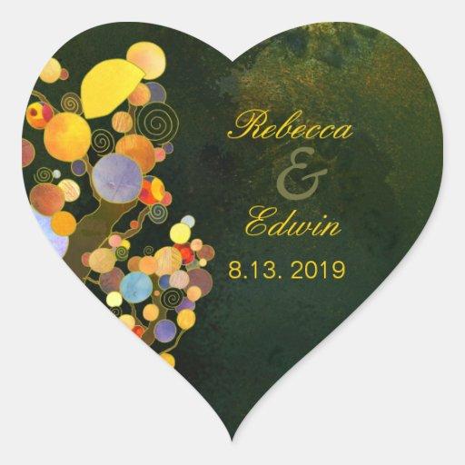 Árboles caprichosos de BridalHeaven que casan invi Colcomanias Corazon