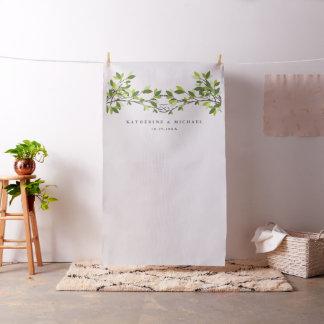 Árboles de amor anudados que casan el paño del tela