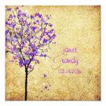 Árboles de arce violetas retros de PixDezines Anuncio Personalizado