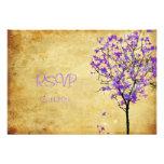Árboles de arce violetas retros del rsvp de PixDez Invitaciones Personalizada