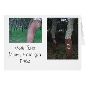 Árboles de corcho - Cerdeña, Italia Tarjeta