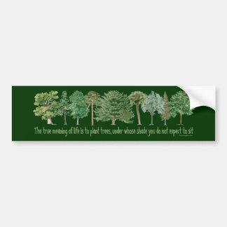 Árboles de la planta - amante del árbol, Hugger Pegatina Para Coche